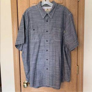Woolric Short Sleeve Woven Button Down Shirt Men's